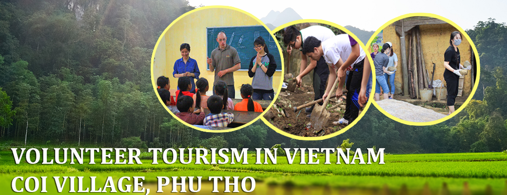 Volun Tourism in Vietnam, Coi village, Phu Tho